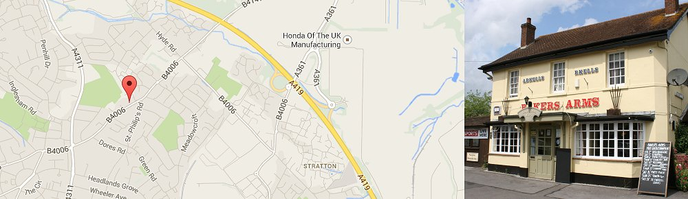 How to find The Bakers Arms, Stratton, Swindon